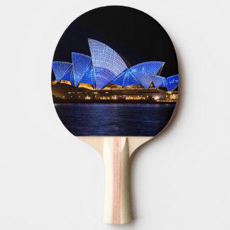 Australia Sydney Opera House At Night Ping Pong Paddle