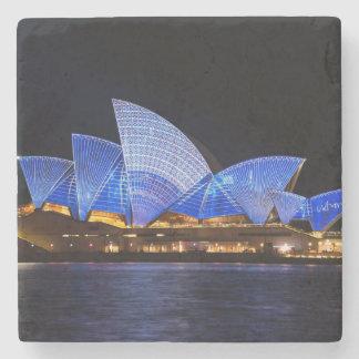 Australia Sydney Opera House At Night Stone Beverage Coaster