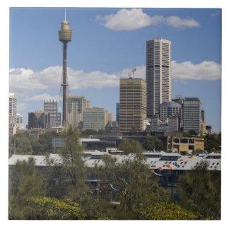 Australia, Sydney, Potts Point. Sydney skyline. Ceramic Tiles
