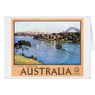 Australia Sydney Restored Vintage Travel Poster Card