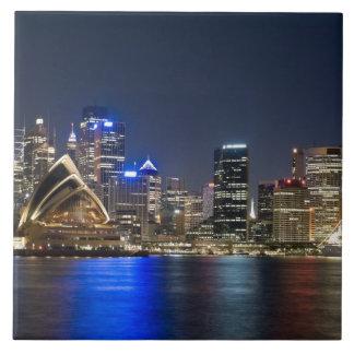 Australia, Sydney. Skyline with Opera House seen Tiles