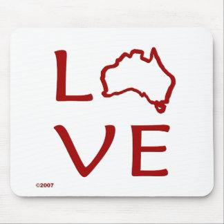 Australia T-Shirts and Gifts, Love Australia! Mouse Mats