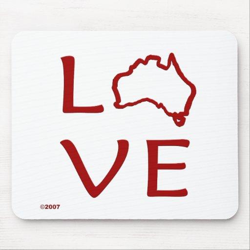 Australia T-Shirts and Gifts, Love Australia! Mouse Mats