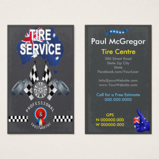 Australia Tire Center Business Card