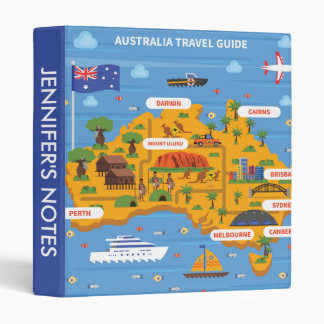 Australia Travel Guide Poster Binder