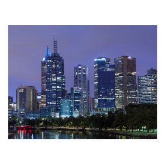 Australia, Victoria, Melbourne, skyline along Postcard