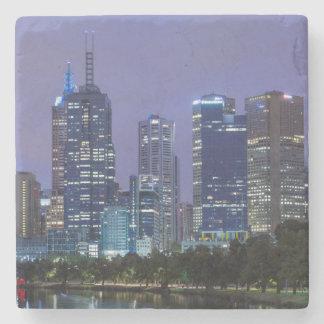 Australia, Victoria, Melbourne, skyline along Stone Coaster