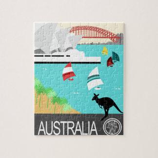 Australia vintage poster puzzles