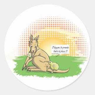Australia VS New Zealand Classic Round Sticker