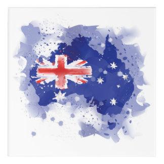 Australia Watercolor Map Acrylic Print
