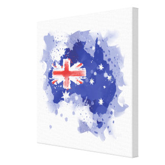 Australia Watercolor Map Canvas Print