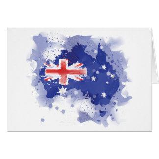 Australia Watercolor Map Card