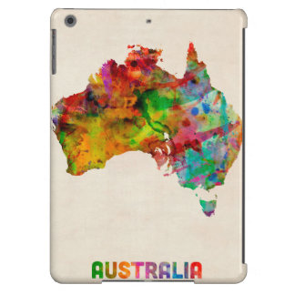 Australia Watercolor Map iPad Air Covers