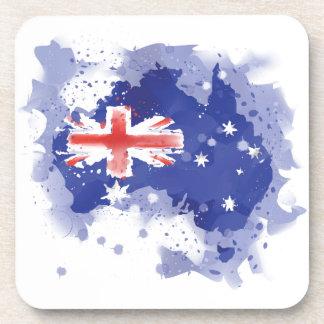Australia Watercolor Map Drink Coaster