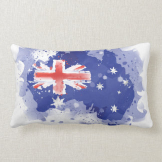 Australia Watercolor Map Lumbar Pillow