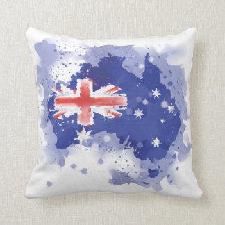 Australia Watercolor Map Throw Pillow