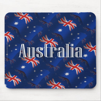 Australia Waving Flag Mouse Pad