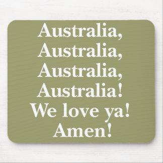 Australia We Love Ya Mousepad