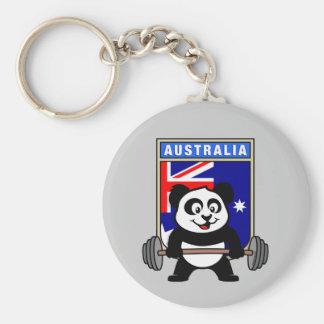 Australia Weightlifting Panda Keychain