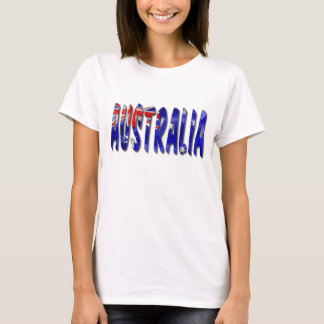 Australia Word With Flag Texture Women's T-Shirt
