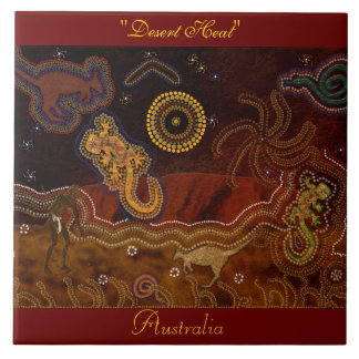 Australian Aboriginal Desert Animals 6' Art Tile