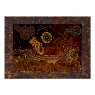 Australian Aboriginal Desert Heat Poster