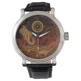 Australian Aboriginal Desert Outback themed Art II Watch