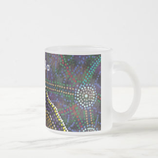 Australian Aboriginal Design cup 10 Oz Frosted Glass Coffee Mug
