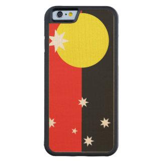 Australian Aborigine Flag Carved® Maple iPhone 6 Bumper