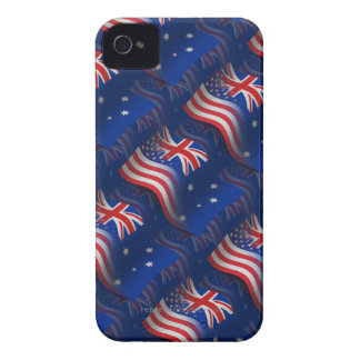 Australian-American Waving Flag iPhone 4 Cover