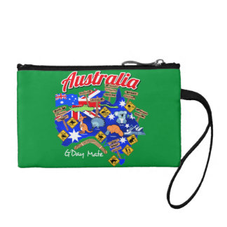 Australian animals and locations coin wallet