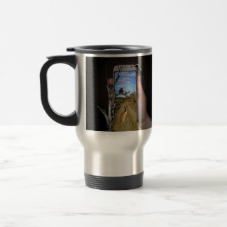 Australian Animals Mobile Phone Illusion Art, Travel Mug
