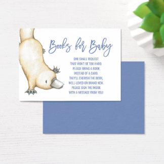 Australian Animals | Platypus Books for Baby Business Card