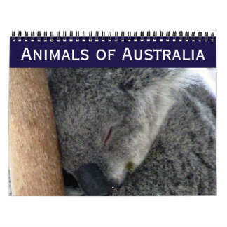 australian animals wall calendars