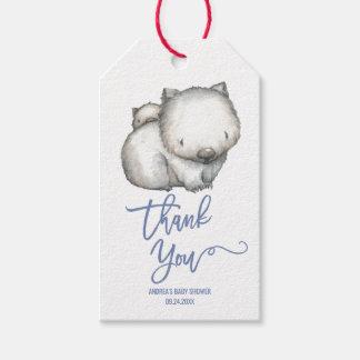 Australian Animals | Wombat Thank You Gift Tags