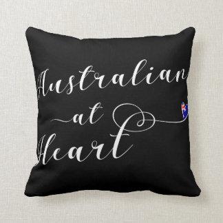 Australian At Heart Throw Cushion, Aus Throw Pillow