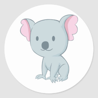 Australian Baby Koala Bear Round Sticker