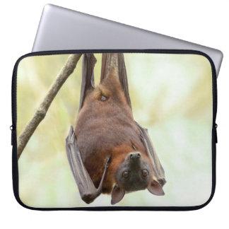 Australian bat up-side-down laptop sleeve