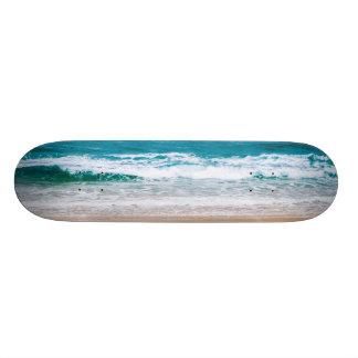 Australian Beach with Blue Waves Skate Decks