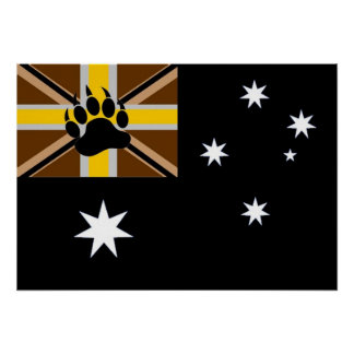 Australian Bear Pride Flag Poster
