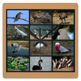Australian Birdwatchers Collage Wallclock