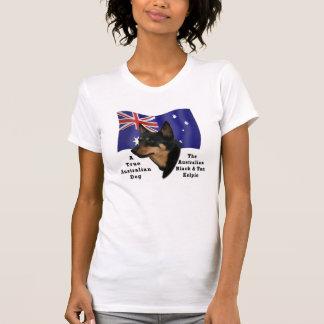 Australian Black and Tan Kelpie/Aust. Flag T-Shirt