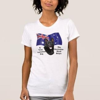 Australian Black Kelpie/Aust. Flag T-Shirt