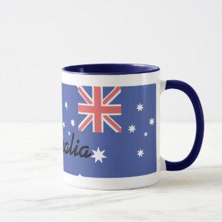 Australian Blue Flag Combo Coffee Mug