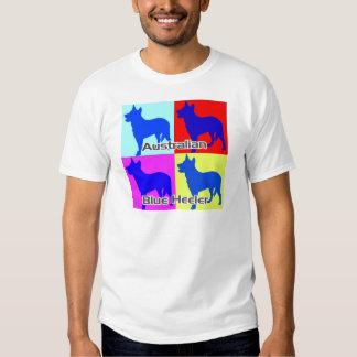 Australian Blue Heelers Color Wall Tshirt