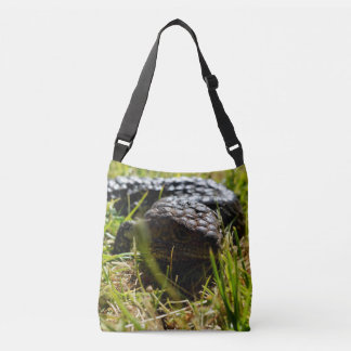 Australian Blue Tongue Lizard, Crossbody  Bag. Crossbody Bag