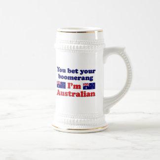 Australian Boomerang Beer Stein