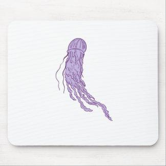 Australian Box Jellyfish Drawing Mouse Pad