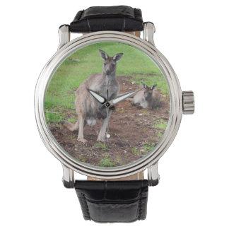 Australian Buck Kangaroo, Mens Leather Watch. Watch