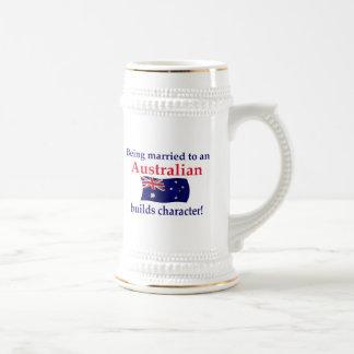 Australian Builds Character 18 Oz Beer Stein